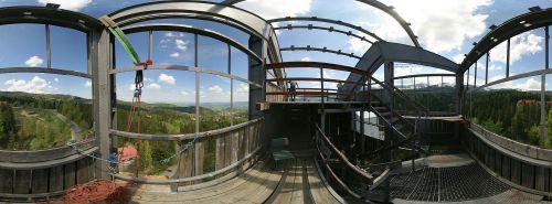 Panorama ze skoczni Orlinek